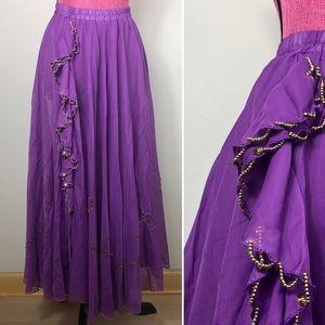 Vintage Handmade Homemade Belly Dancing Skirt